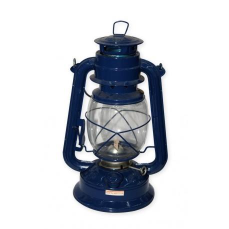 Lampe tempête - métal - H. 23 cm bleue