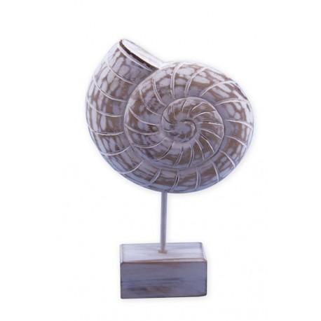 Coquillage en bois peint 26,5 x 17 cm