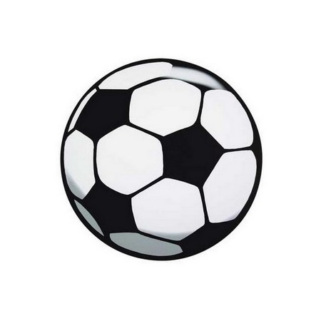 Ballons de foot x 6 - carton - diam 40cm