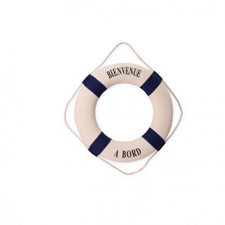 "Bouée "" BIENVENUE A BORD "" - tissu/polystyriène - Diam. 50 cm"