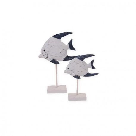 Poisson en bois à poser PM - bois - haut. 26 cm
