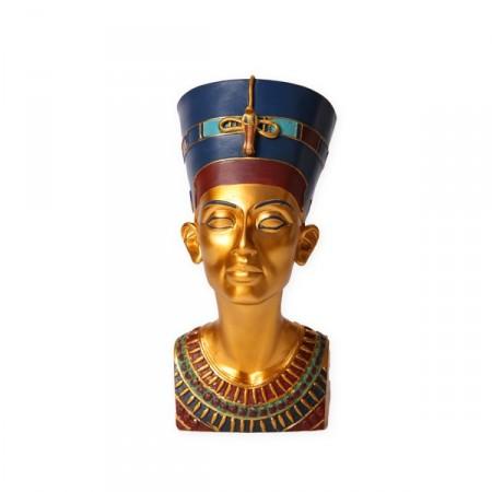 Buste de Nefertiti - résine - H. 33cm