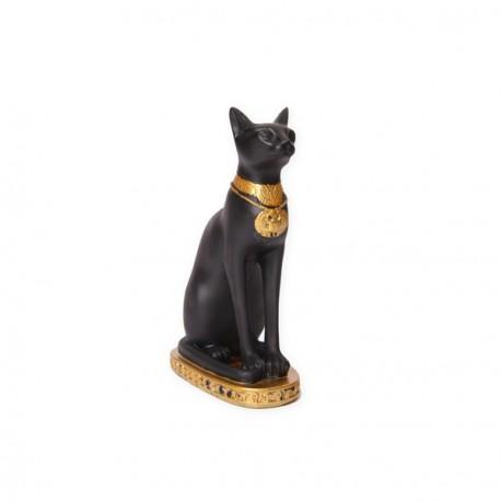 Chat Egyptien - résine - H. 18cm