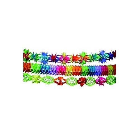 Guirlande multicolore x 3 -  papier - 6m