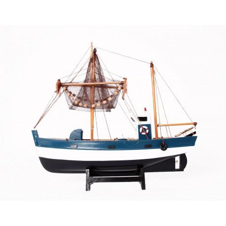 Maquette de bateau - bois - Long 60cm H. 57cm