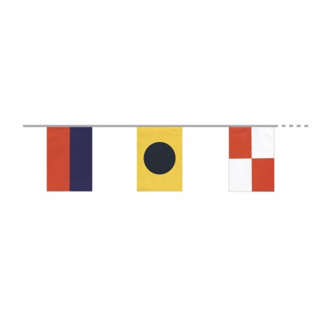 Guirlande  Pavois Maritimes 9 pavillons - papier - Long 380cm