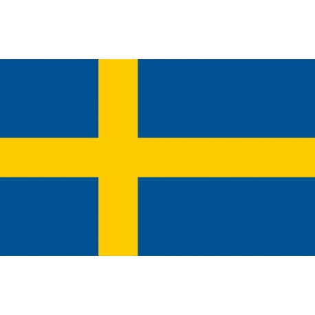 Drapeau Suède - tissu - 90 x 150 cm