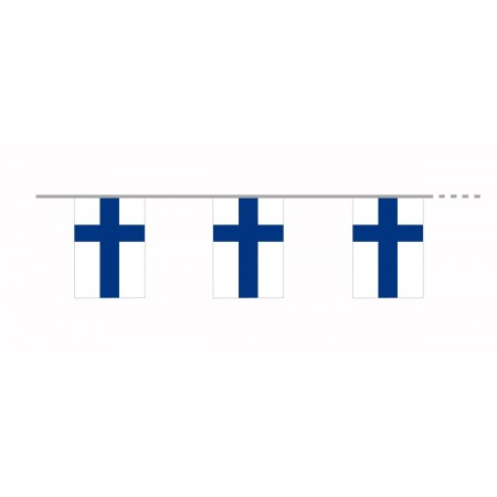 Guirlande Finlande  - 10 fanions 20 x 30 cm - papier - Long.420cm