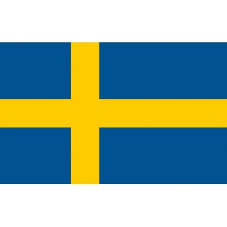 Drapeau Suède - tissu - 60 x 90cm
