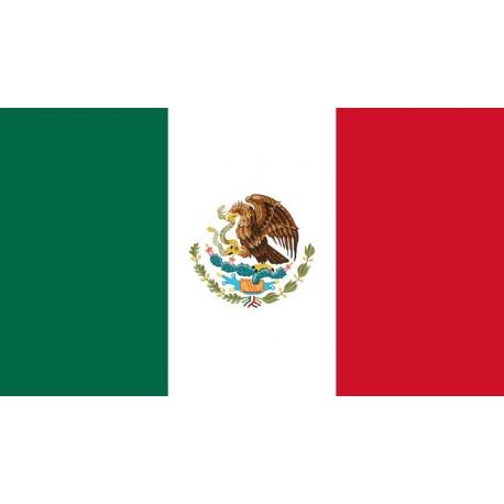 Drapeau Mexique - tissu - 90 x 150cm