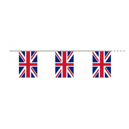 Guirlande Royaume-Uni - 10 fanions 21 x 30 cm - papier - Long.420cm