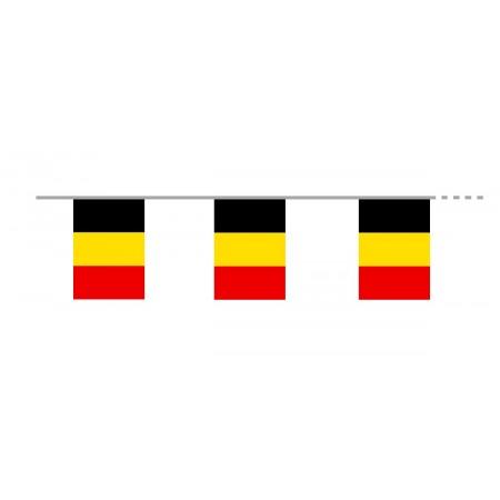 Guirlande Belgique - 10 fanions 20 x 30 cm - papier - Long. 400cm