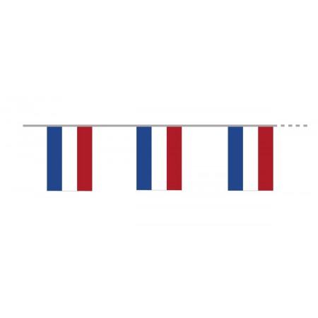 Guirlande Pays Bas - 10 fanions 21 x 30 cm -  plastique - Long. 400cm
