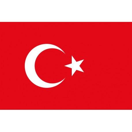Drapeau Turquie - tissu - 90 x 150cm