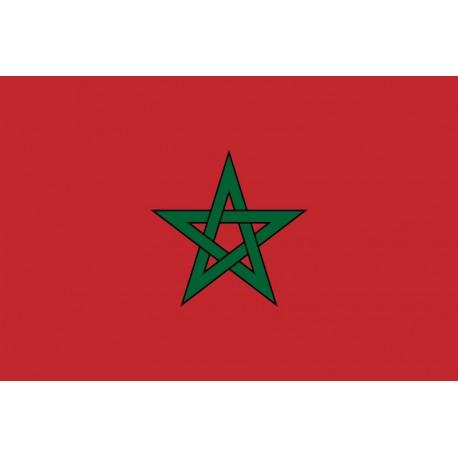 Drapeau Maroc - tissu - 90 x 150 cm