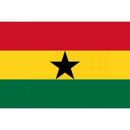 Drapeau Ghana - tissu - 90 x 150cm