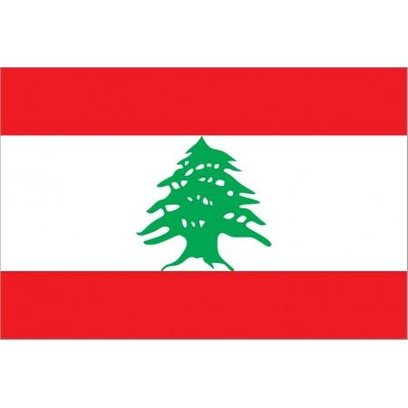 Drapeau Liban - tissu - 90 x 150cm