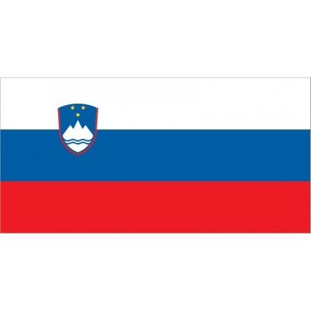 Drapeau Slovénie - tissu - 90 x 150 cm