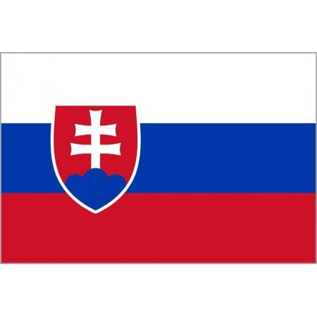 Drapeau Slovaquie - tissu - 90 x 150cm