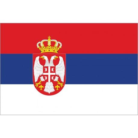 Drapeau Serbie - tissu - 90 x 150 cm
