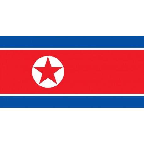 Drapeau Corée du Nord - tissu - 90 x 150cm