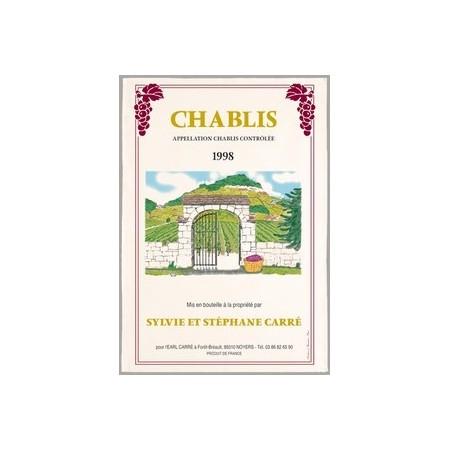 Tissu Imprimé  Chablis  - Coton - 48 x 72 cm*