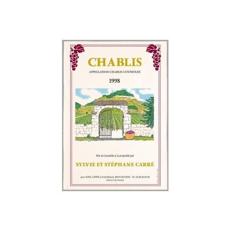 "Tissu Imprimé "" Chablis "" - Coton - 48 x 72 cm"