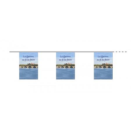 Guirlande La Garonne au fil du fleuve  - papier - 8 pavillons 400 cm