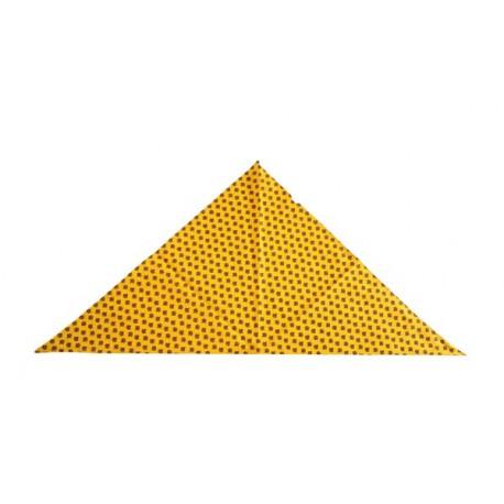 Bandana Provencal - tissu jaune ou bleu -  75 x 75 cm