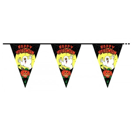 Guirlande fantomes 10 fanions - PVC