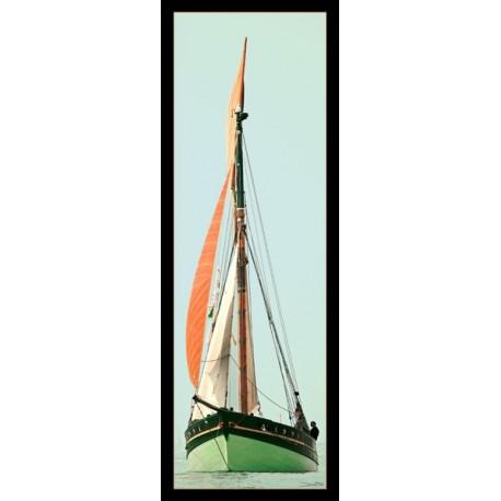"""Kakémono """" Bateau"""" - tissu - 65 x 185cm"""