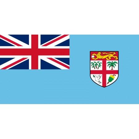 Drapeau Fidji  60 x 90 cm  - tissu