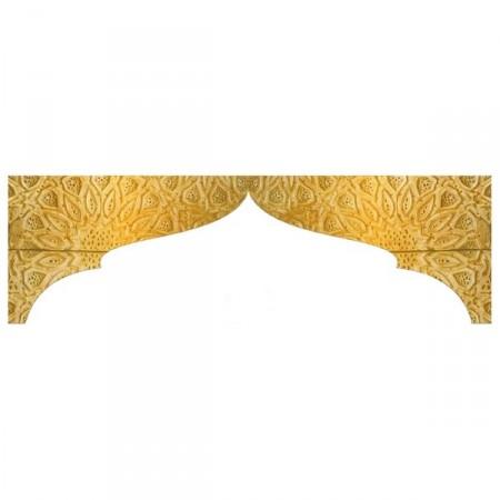 Fronton Oriental 150 x 45 cm (2 éléments) Recto Verso - ignifugé M1 + profil
