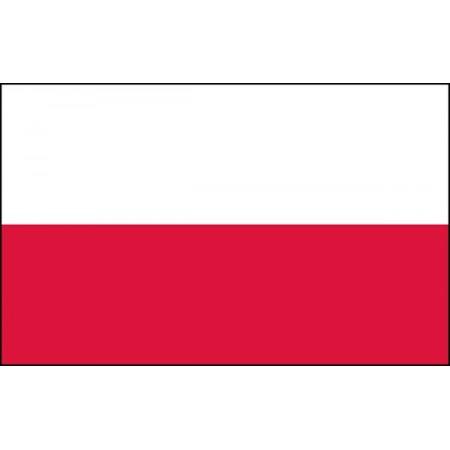 Drapeau Pologne - tissu - 60 X 90 cm