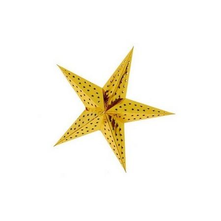 Etoile Or - carton - Diamètre 40 cm