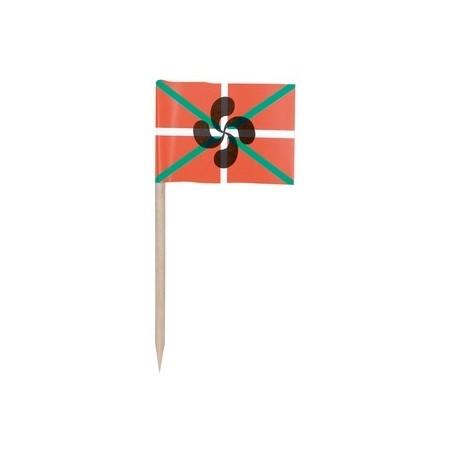 Drapeaux mini Basque x 144 -papier-3.5 x 2.5 cm (pic en bois de 6.5 cm)