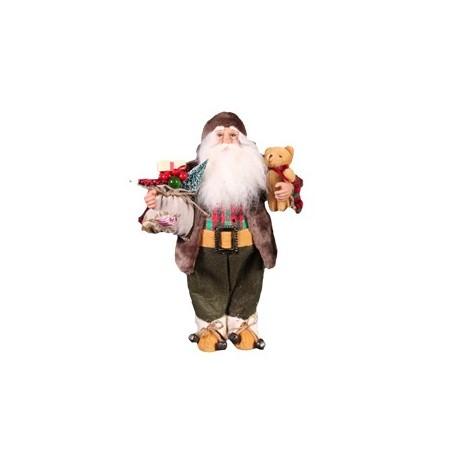 Pere Noel Ours / Cadeau Hauteur 61 cm
