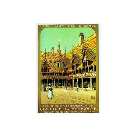 Affiche Bourgogne Beaune - 50 x 70cm
