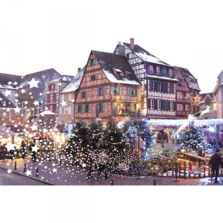 """Panoramique """"Marché de Noel"""" """"Marché"""" 80 x 53 cm PVC M1"""