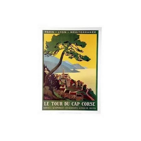 Affiche Cap Corse  - papier -  50 x 70 cm