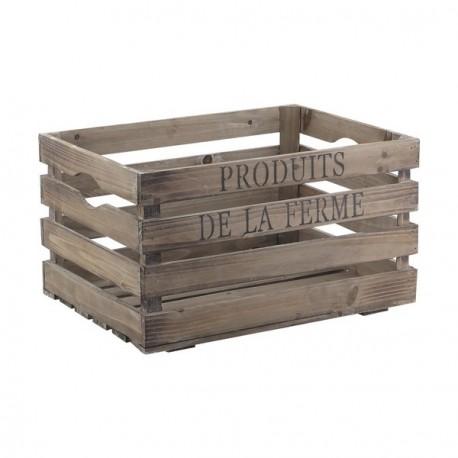 Caisse produits de la ferme 40 x 30 x 22 cm