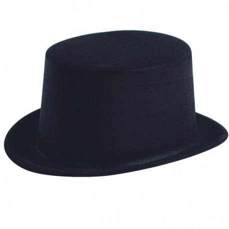 Chapeau Haut de forme en velours noir  (taille adulte)