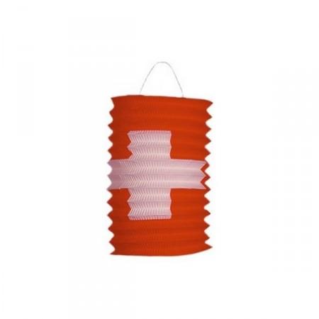 Lampions Suisse diam 16 cm - papier