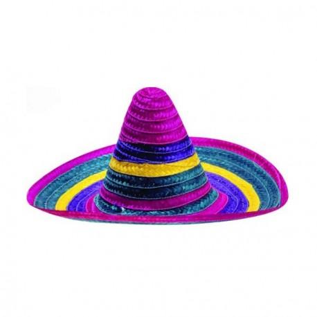 Sombrero - paille multicolore - taille adulte