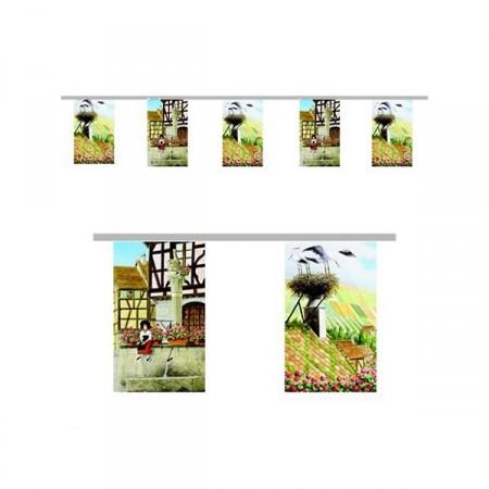 Guirlande Visuels Alsace - 10 fanions 21 x 30 cm - papier - Long.420cm