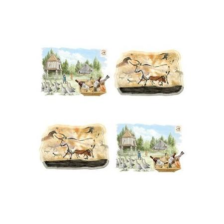 Set de 4 mobiles Perigord - carton
