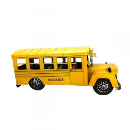 Bus School jaune en metal - 27 cm