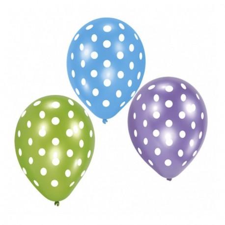 Ballons motif points - sachet de 6