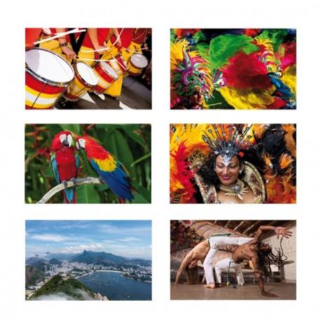 Mobiles / Panoramiques Brésil x 6 - 33 x 60cm - 400g