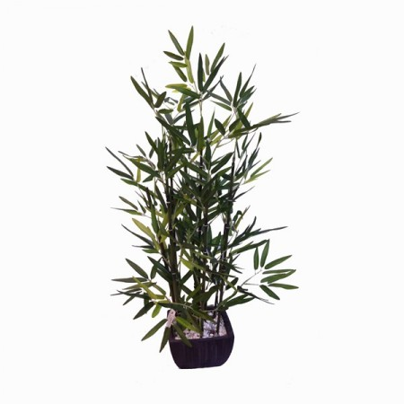 Bambou artificiel en pot haut: 46 cm